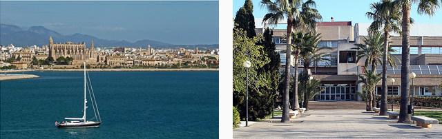 On the left: «Palma de Mallorca» / On the right: «UIB»